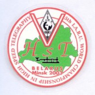 High-speed telegraphy - The 2003 HST World Championships were hosted in Minsk, Belarus.