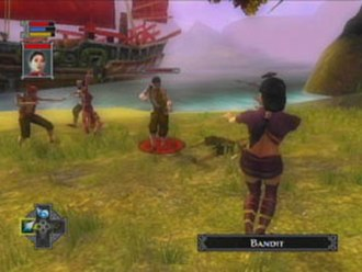 Jade Empire - The protagonist faces enemies during an early portion of the game.