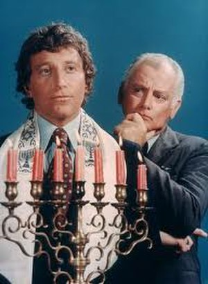 Lanigan's Rabbi - Lanigan's Rabbi promotional photo, with Bruce Solomon and Art Carney.