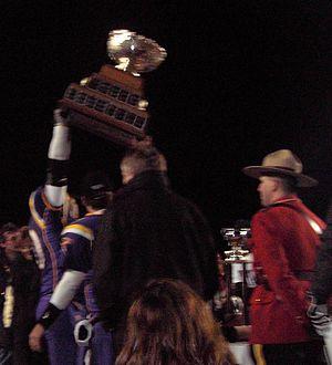 Vanier Cup - The Laurier Golden Hawks won the 2005 Vanier Cup, defeating Saskatchewan 24–23.