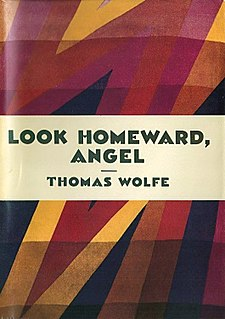 <i>Look Homeward, Angel</i> novel by Thomas Wolfe