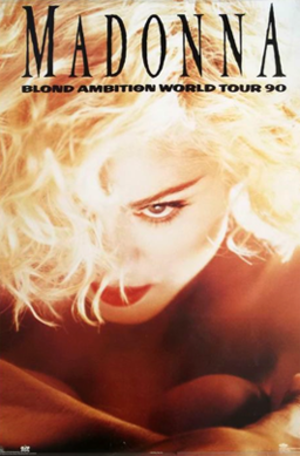 Blond Ambition World Tour - Promotional poster for the tour