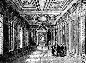 Marshalsea Court - Interior of the Palace Court of the Marshalsea, 1800