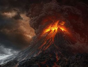 Mount Doom - Orodruin as depicted in The Lord of the Rings film trilogy.