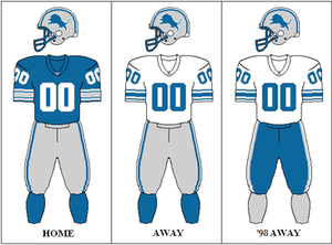 1997 Detroit Lions season - Image: NFC Throwback 2 Uniform DET