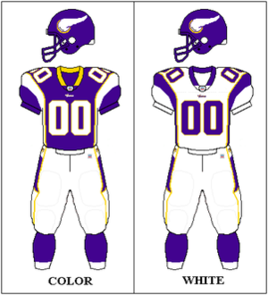 2007 Minnesota Vikings season - Image: NFCN Uniform MIN 2006