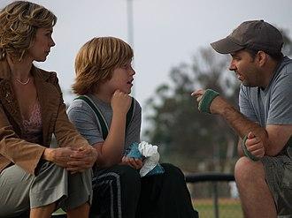 James Vasquez - Vasquez (right) directing Carrie Preston and Lurie Poston on the set of the film Ready? OK!