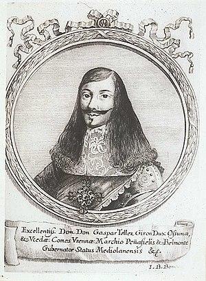 Gaspar Téllez-Girón, 5th Duke de Osuna - Gaspar Téllez-Girón. Engraving by Giovanni Battista Bonacina.