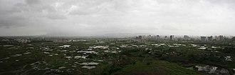 Kharghar - Kharghar panorama from Pandavkada hills.