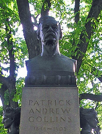 Patrick Collins (mayor) - Bust of Patrick Collins in the Commonwealth Avenue mall in Boston, Massachusetts