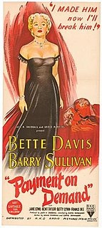 <i>Payment on Demand</i> 1951 film