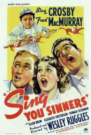 Sing You Sinners (film) - Image: Poster of the movie Sing You Sinners