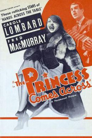 The Princess Comes Across - theatrical release poster