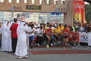 Ras al-Khaimah - Participants of RAK Half Marathon 2011.