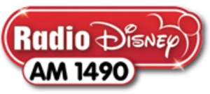 "WOLF (AM) - WOLF's last logo as ""Radio Disney AM 1490,"" used until February 1, 2014"