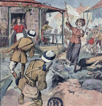 Anti-union violence - French cartoon of the Rand Rebellion in South Africa, 1922