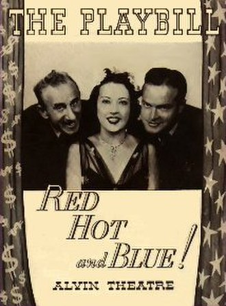 Red, Hot and Blue - 1936 original broadway production playbill cover