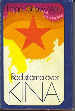 Red Star Over China - Röd stjärna över Kina, Swedish  edition of the book from 1974