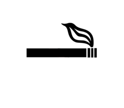 A smoking symbol, usually signifying that smoking is allowed.