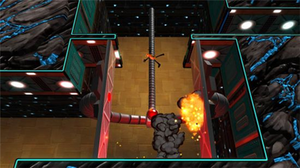 'Splosion Man - Players control 'Splosion Man, an escaped science experiment with the ability to explode himself repeatedly.