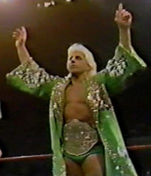 Starrcade (1988) - Ric Flair, the NWA World Heavyweight Champion, before his match at Starrcade