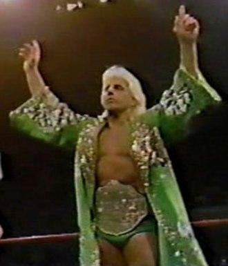 Starrcade (1988) - Ric Flair, the NWA World Heavyweight Champion, before his match at Starrcade