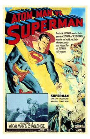 Atom Man vs. Superman - Promotional poster