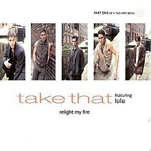 Take That featuring Lulu - Relight My Fire (studio acapella)