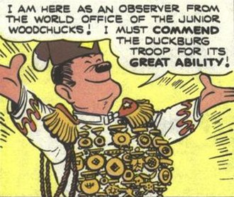 """Junior Woodchucks - The I.T.S.A.A.D.C.O.T.F.O.I.K., from Carl Barks' """"The Chickadee Challenge"""" (1955)."""