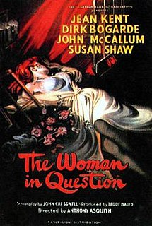 <i>The Woman in Question</i> 1950 film by Anthony Asquith