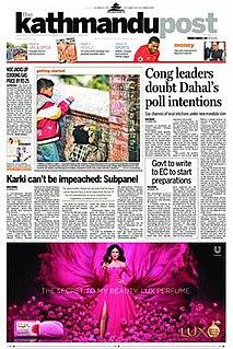 <i>The Kathmandu Post</i> English newspaper in Nepal