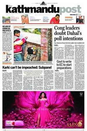 The Kathmandu Post - Image: Thekathmandupost