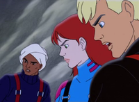 Hadji, Jessie, and Jonny from the season one episode Expedition to Khumbu