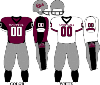 Montana Grizzlies football - Image: Uniform Montana