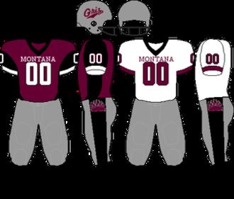 Montana Grizzlies football - Image: Uniform Montana