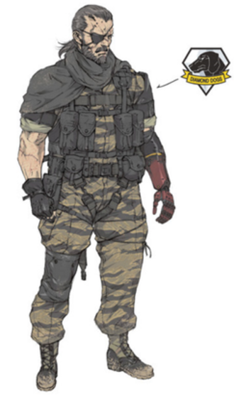 Venom Snake - Concept art of Venom Snake for Metal Gear Solid V: The Phantom Pain by assistant designer Chihoko Uchiyama