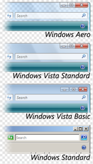 Windows Vista - A comparison of the four visual styles included in Windows Vista
