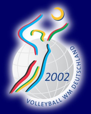 2002 FIVB Volleyball Women's World Championship - Image: Volleyball World Championship Logo 2002