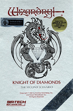 Wizardry II - The Knight of Diamonds Coverart.png