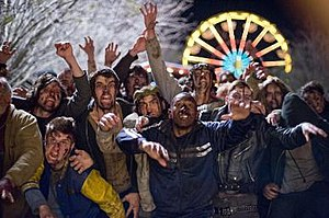 Zombieland - Zombieland zombies in a scene from the film's climax.