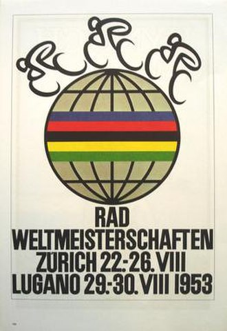 1953 UCI Road World Championships - Image: 1953 UCI Road World Championships poster