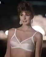 3a3b838bb The semi-nude model in a 1985 advertisement that took advantage of relaxed  NAB regulations