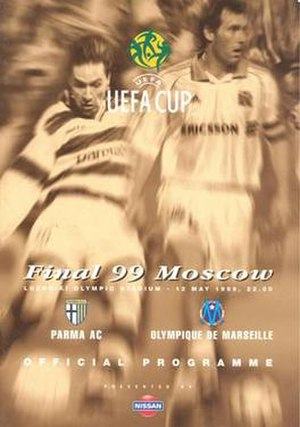 1999 UEFA Cup Final - Match programme cover