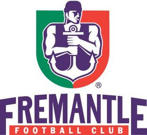 Fremantle Football Club - Fremantle Football Club logo 1997–2010 showing former team colours red and green