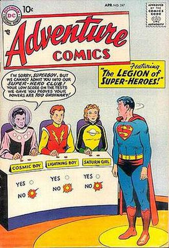 Legion of Super-Heroes (1958 team) - Image: Adv 247legion