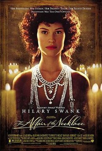 The Affair of the Necklace - Theatrical release poster