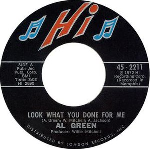 Look What You Done for Me - Image: Al Green Look What You Done for Me