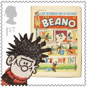 The Beano - Beano stamp issued by Royal Mail