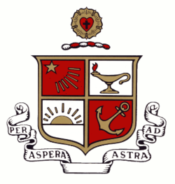 The crest of Beta Sigma Psi Fraternity.
