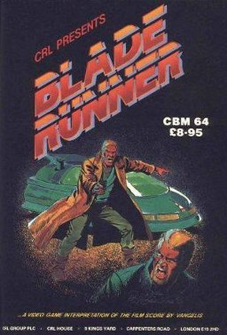 Blade Runner (1985 video game) - Cover for the Commodore 64 version of the game